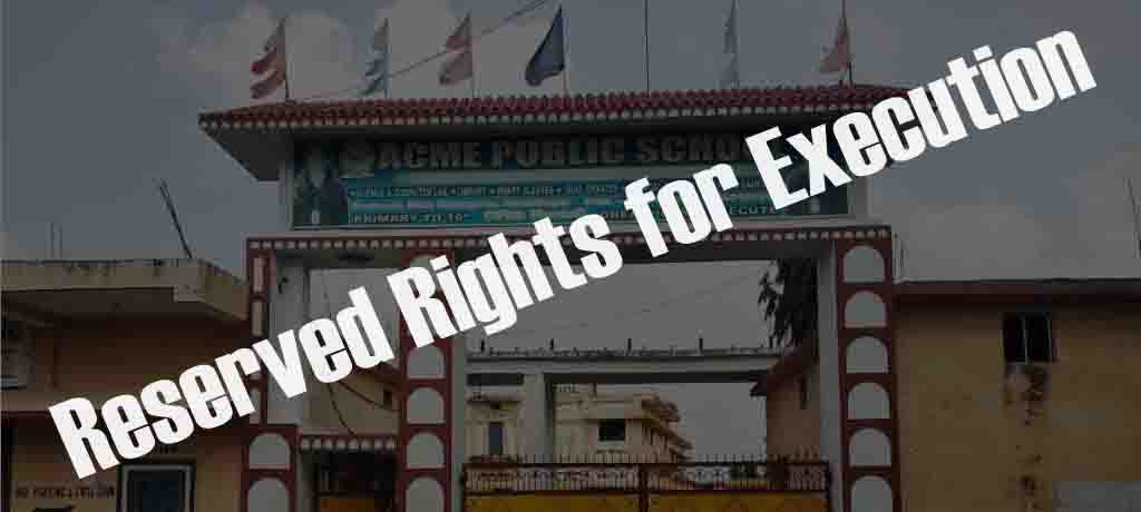 organization rules and regulations reserved rights for execution